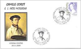 ITALIA ITALY 2009. SPECIAL POSTMARK.CAMILLE COROT AND THE MODERN ART. PAINTER. PAINTING. VERONA - Arte