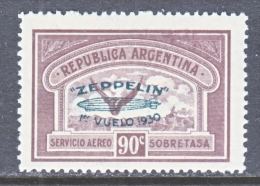 ARGENTINA, C 27   *  ZEPPELIN - Airmail