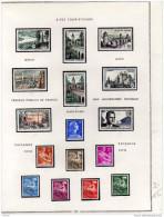 FRANCE-lot-sur Feuille D´album-ordre De Parution 1957-timbres Gomme D´origine 1ère Charnière Fine-cote 44,80eu - Stamps