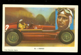 Chromo ( 3600 )  Voiture  Auto  Koersauto  : Fangio -  Chocolat L´ Aiglon - Aiglon