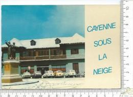 CPM, CAYENNE Sous La Neige, Place Scholcher - Cayenne