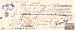 49 644 SAUMUR 1898 Ets VEUVE AMIOT à BAINARD De CHATELLERAULT Tampon HOULON SALLES De REIMS - VERRERIE DE LOIVRE 51 - Lettres De Change