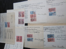 17 Timbres Fiscaux Sur Papiers Libres, 1943, 1949 & 1950 (Lot Tf 14) - Facturas & Documentos Mercantiles