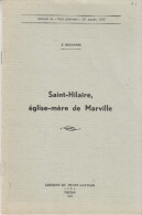 E. Dejardin - Saint-Hilaire, église-mère De Marville (Meuse) - Virton 1965 - FRANCO DE PORT - Lorraine - Vosges
