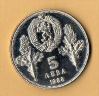 BULGARIA - 1988, 5 Leva, CuNi - Bulgaria