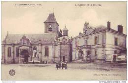 MARINES - 95 - L´église Et La Mairie - Marines