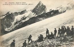 Massif De L'Oisans - Le Glacier Du Lac Et Le Pic De La Meije - Chasseurs Alpins - Militaria