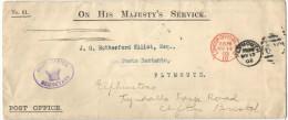 GB - Regno Unito - GREAT BRITAIN - UK - 1902 - London Official Paid - On His Majesty's Service - Viaggiata Da Londra ... - Storia Postale
