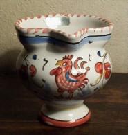 DERUTA ROSSO - Cremier/pichet Au Coq - Red Rooster Pitcher - Haan Kannetje - Hahn  (PR185) - Deruta (ITA)