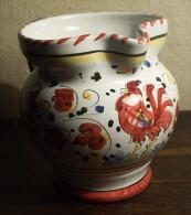DERUTA ROSSO - Cremier/pichet Au Coq - Red Rooster Pitcher - Haan Kannetje - Hahn  (PR186) - Deruta (ITA)