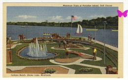 INDIANA BEACH - Shafer Lake Monticello - Miniature Train At Paradise Island - Golf Course - Etats-Unis