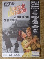CENDRON - 2/09/94 - Jours De Libération  50 Ans De Paix  ça Se Fête ! - Affiches