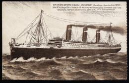 A2925) Ansichtskarte Größter Dampfer Der Welt IMPERATOR Der HAPAG Ungebraucht Unused - Dampfer