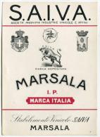 ETICHETTA PUBBLICITà MARSALA STABILIMENTO VINICOLO SAIVA - Alcolici