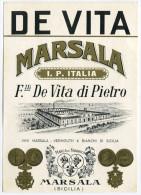 ETICHETTA PUBBLICITà MARSALA FRATELLI DE VITA DI PIETRO - Alcolici