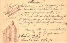 1 Postkarte Entier Postale CHAUX De-FONDS 1896 5 C. Suisse  Chocolats Ph. Suchard, Litho Chocolat Chokolade Cacao Cocoa - VD Vaud