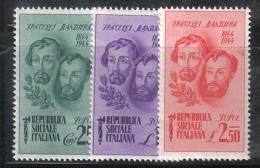 Z800  - REPUBBLICA SOCIALE , Fratelli Bandiera Serie 512/514  ***  MNH - 1944-45 République Sociale