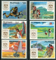 PHILIPPINES 1988 Olympic Week PERF Set (6v), XF MNH - Summer 1988: Seoul