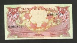 INDONESIA - BANK INDONESIA - 10 RUPIAH (1959) - Indonesia
