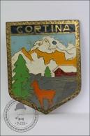 Old Cortina Italy Mountains And Mountain Goat - Pin/ Badge - Ciudades