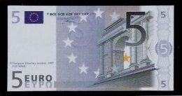 "Polymer-Test Note ""EMI 1997 FACSIMIL"" 5 EURO, Euro Size, Beids. Druck, RRR, UNC - Espagne"