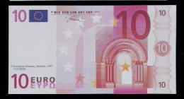 "Polymer-Test Note ""EMI 1997 FACSIMIL"" 10 EURO, Euro Size, Beids. Druck, RRR, UNC - Spanien"