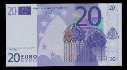 "Polymer-Test Note ""EMI 1997 FACSIMIL"" 20 EURO, Euro Size, Beids. Druck, RRR, UNC - Espagne"