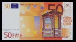 "Polymer-Test Note ""EMI 1997 FACSIMIL"" 50 EURO, Euro Size, Beids. Druck, RRR, UNC - Spanien"