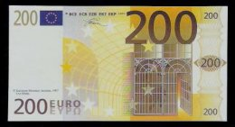 "Polymer-Test Note ""EMI 1997 FACSIMIL"" 200 EURO, Euro Size, Beids. Druck, RRR, UNC - Spanien"