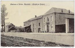TOERNICH ..-- Arrêt Du TRAM . Cantine Militaire . 1907 Vers CHATELINEAU ( Mr A. CAMBIER , Curé ) . Voir Verso - Arlon