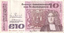 BILLETE DE IRLANDA DE 10 POUNDS DEL AÑO 1989  (BANKNOTE) - Irlanda