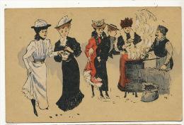 Marchand De Marrons Chataignes Chestnut Vendor Signée PB - Händler
