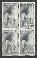 TP DE LUXEMBOURG N°333 EN BLOC DE 4  NEUF SANS CHARNIERE - Nuevos
