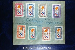 Curacao: Airmail Registered Cover Willemstad To Panama, Censored, NVPH LP 18 - 25, Cat Value Stamps € 280 - Curaçao, Nederlandse Antillen, Aruba