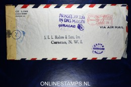 Curacao: New Orleans To Curacao  1944, Prinses Juliana In Ons Midden ,censor Opened - Curaçao, Nederlandse Antillen, Aruba