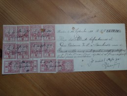 Récépissé Daté Du 16/09/1921 Avec Timbres Fiscaux 5C - Steuermarken