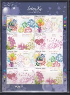 Malaysia 2012 MyStamp, Orchids, Flag, Greetings Etc Sheetlet MNH - Orchidee