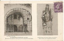 Alise-Sainte-Reine (Alésia) - Fontaine Miraculeuse Et Vieille Statue De Sainte-Reine Miraculeuse - France