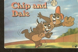 1993 Walt Disney Chip And Dale Playing Baseball Disneyana Collectibles Pocket Calendar - Calendars