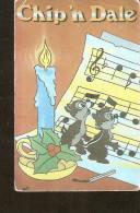 1993 Walt Disney Chip And Dale Christmas Pocket Calendar Disneyana Collectibles - Calendars