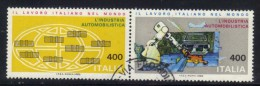 BLOC - REPUBBLICA 1983 , Serie Lavoro N. 1620/1621 In Blocco Usato - 6. 1946-.. Repubblica