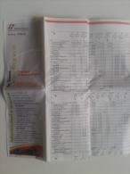 Alt614 Orario Timetable Oraire Treno Train Railway Line Piemonte Tratta Torino Milano Italia Trenitalia - Europa