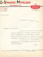 Facture La Vannerie Métallique à CHATUZANGE - 1900 – 1949