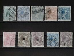 ESPAGNE - 1889  Lot Partie De Série 196/211 (dont 2 Troués + 2 Perforés - Voir Scan) - 1889-1931 Regno: Alfonso XIII