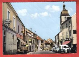 70 - PORT SUR SAONE - CPSM 713  - Grande Rue - éd ?? - Laine Pernelle / 4L / Traction / Aronde / DS / église / Commerces - Otros Municipios