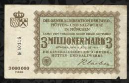 ALLEMAGNE .   BILLET DE 3 MILLIONEN  MARK .1923  . - [ 3] 1918-1933: Weimarrepubliek