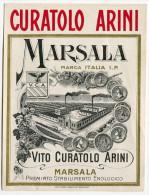ETICHETTA MARSALA VITO CURATOLO ARINI PREMIATO STABILIMENTO ENOLOGICO - Alcolici