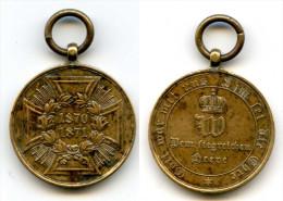 323 (15) - MEDAILLE ALLEMANDE 1870 1871 - A IDENTIFIER - MARQUAGE SUR TRANCHE VOIR DESCRIPTION - Allemagne