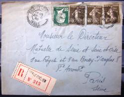 Cachet Facteur Boitier Type 1884 N° 1161 + Rec  --  DUN LE POELIER  --  INDRE  --  LSC  --  1926 - Postmark Collection (Covers)