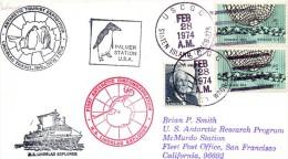 Pli Palmer Station U.S.A. Avec Plusieurs Cachets  Pour San Francisco CALIFORNIE - Stamps